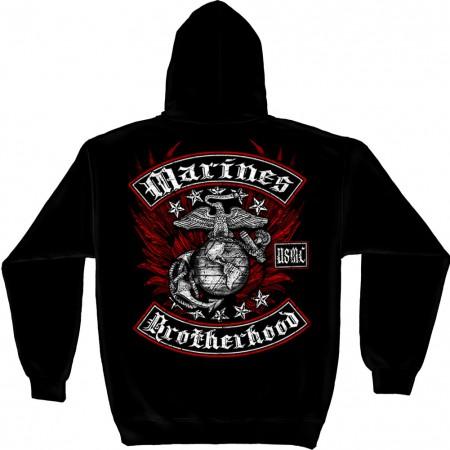 USMC Marines Brothershood Black Hoodie