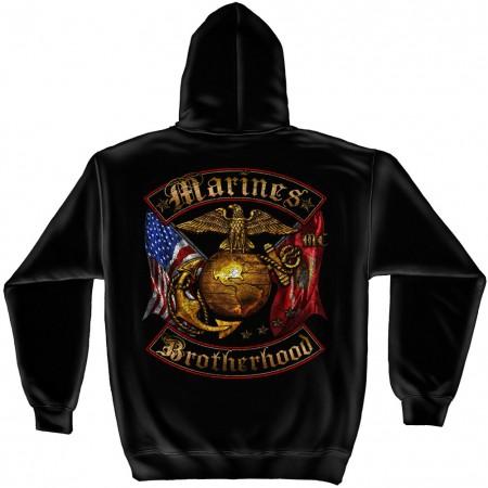 Patriotic USMC Brotherhood Hoodie