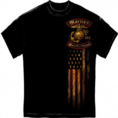 Marines Brotherhood Foil Black T-Shirt