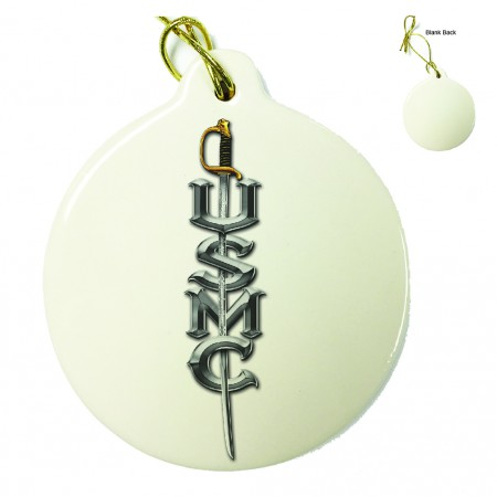 US Marine Corps USMC Sword Porcelain Ornament