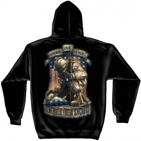 Patriotic Honor Our Heroes Hoodie