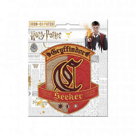 Harry Potter Iron-On Gryffindor Seeker Patch