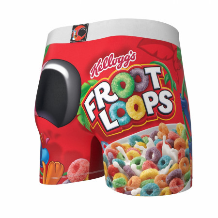 Froot Loops Boxer Briefs with Fruit Cereal Box