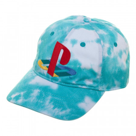 PlayStation Logo Tie Dye Adjustable Strapback Hat