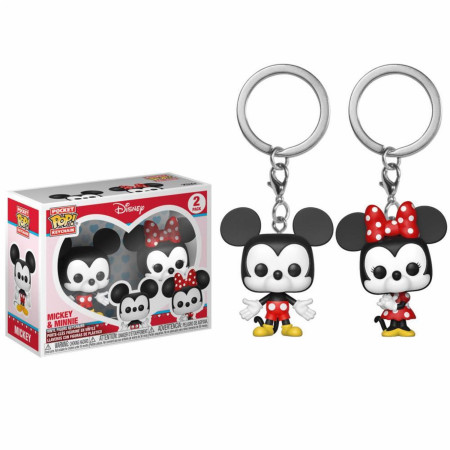 Mickey and Minne Funko Pop Pocket Keychain 2-pack
