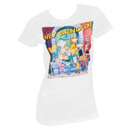 Hey Arnold Women's White Squad T-Shirt