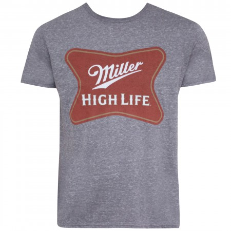 Miller High Life Classic Logo Men's Grey T-Shirt