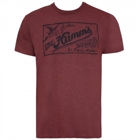 Hamm's Men's Crimson Red Retro T-Shirt