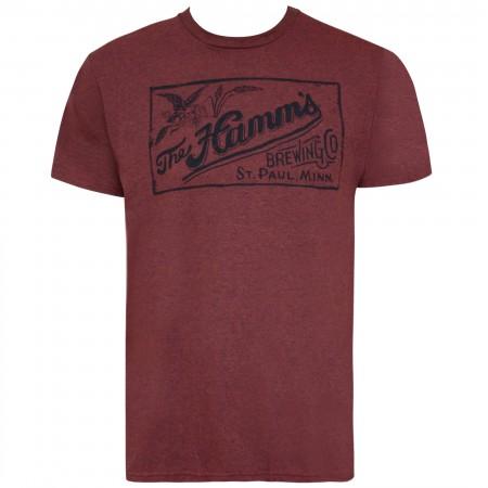 Hamm's Crimson Red Tee Shirt