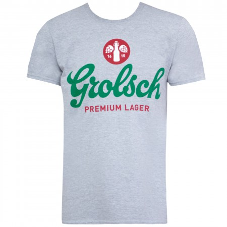 Grolsch Men's Grey Logo T-Shirt