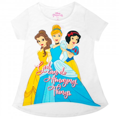 Disney Princesses Youth Girls Do Amazing Things White Tee Shirt
