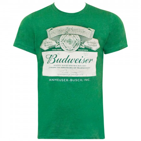 Budweiser St. Patricks Day Green Label Tee Shirt