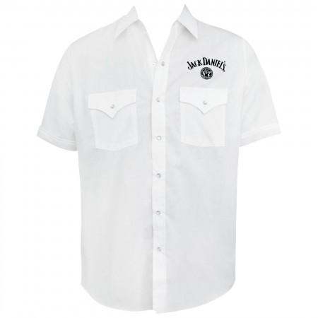 Jack Daniels Men's Short Sleeve White Button Up