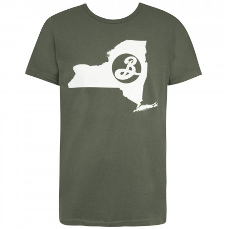 Brooklyn Brewery Green New York State Men's T-Shirt