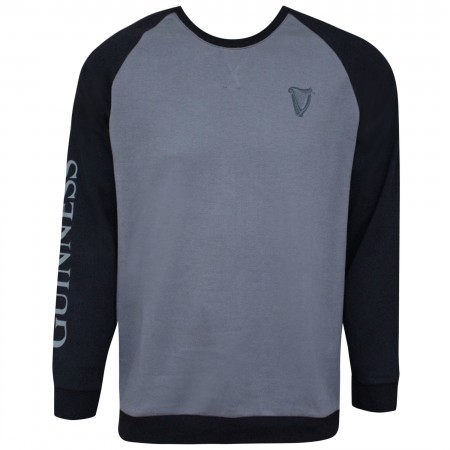 Guinness Men's Long Sleeve Gray And Black Sweatshirt