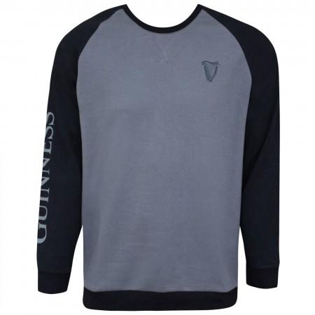 Guinness Black And Grey Long Sleeve Sweatshirt