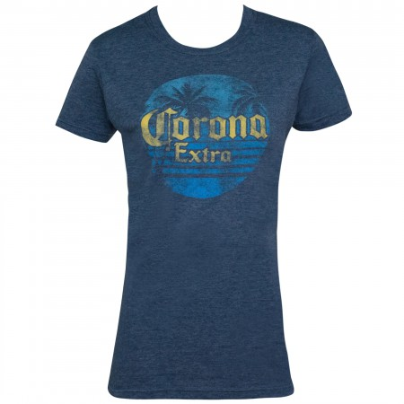 Corona Extra Women's Blue Sunset Logo T-Shirt