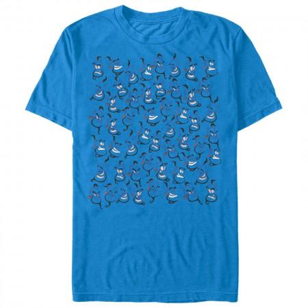 Aladdin Men's Blue Where's Genie T-Shirt