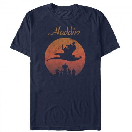 Aladdin Men's Navy Blue Magic Carpet T-Shirt