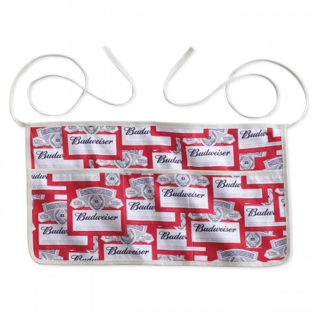 Budweiser Repeating Logo Server Apron