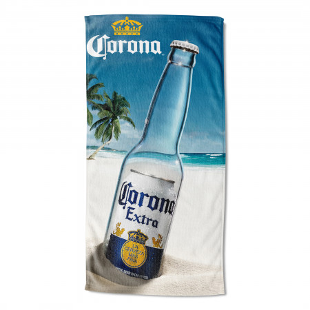 Corona Message In A Bottle 30x60 Beach Towel