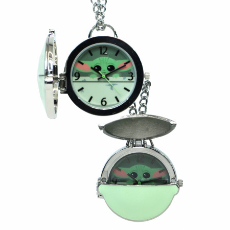 Star Wars The Mandalorian Grogu Metal Pocket Watch