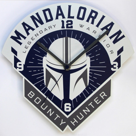 Star Wars The Mandalorian Bounty Hunter Clock