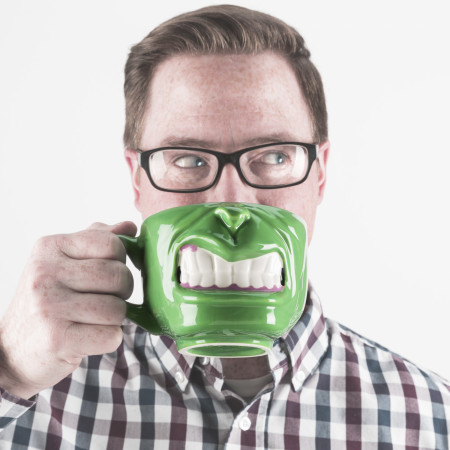Marvel Comics Hulk Half Face Sculpted Mug