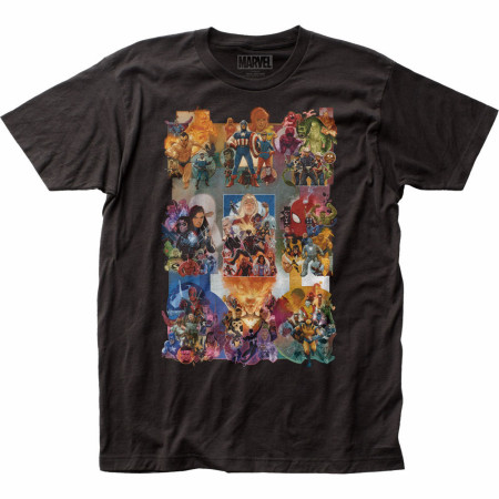 Marvel Comics Painted Collage T-Shirt