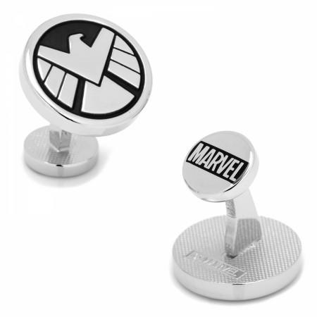 S.H.I.E.L.D. Logo Silver Cufflinks
