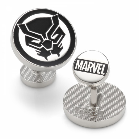 Black Panther Mask Silver Cufflinks