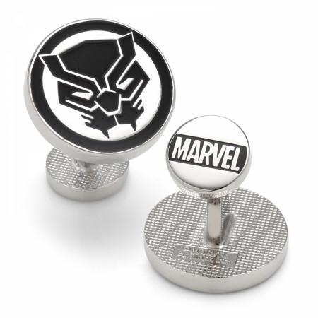 Black Panther Mask Silver Cufflinks