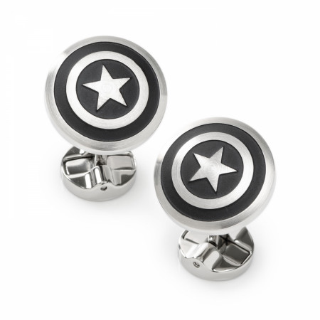 Captain America Shield Stainless Steel Premium Cufflinks