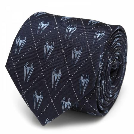 Spider-Man Diamond Navy Men's Silk Tie