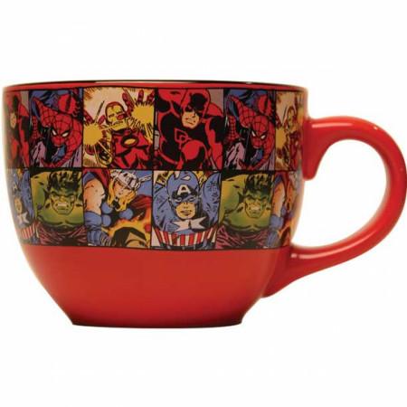 Avengers Comic Collage 24 Ounce Soup Mug