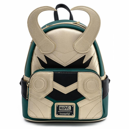 Marvel Loki Classic Helmet Mini Backpack by Loungefly