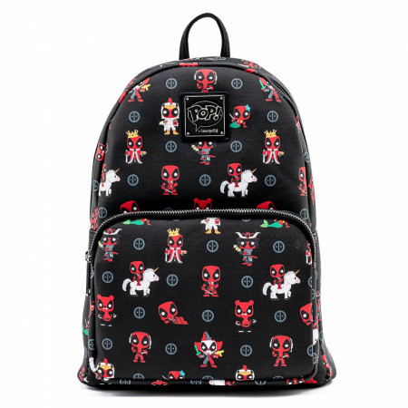 Marvel Deadpool 30th Anniversary All Over Print Mini Backpack by Loungefly