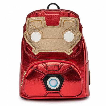 Marvel I Am Iron Man Light Up Loungefly Mini Backpack
