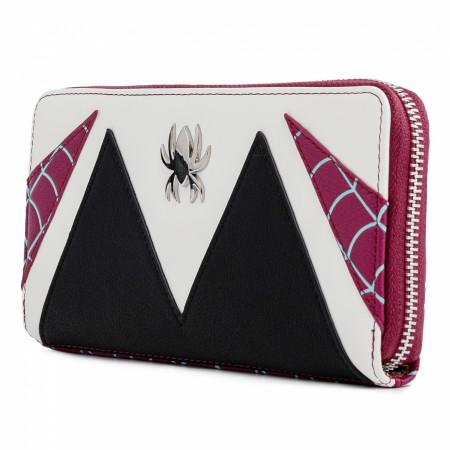 Spider-Gwen Costume Cosplay Zip Around Wallet by Loungefly
