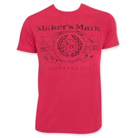 Maker's Mark Ambassador Red T-Shirt