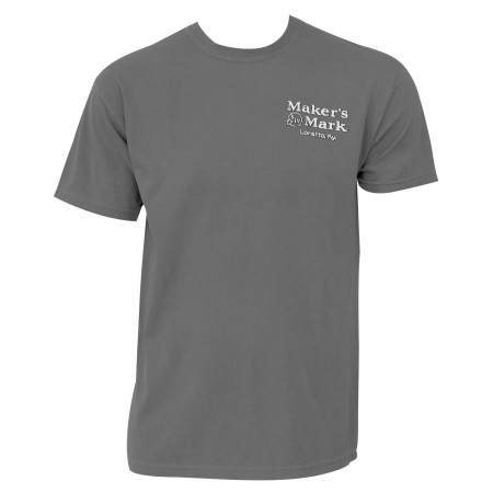 Maker's Mark Bottle Logo Gray Graphic T-Shirt