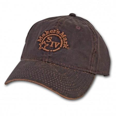 Maker's Mark Whiskey Oil Cloth Baseball Hat