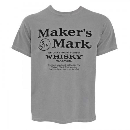 Maker's Mark Logo Grey Tee Shirt
