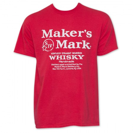 Maker's Mark Red Whiskey Logo T-Shirt