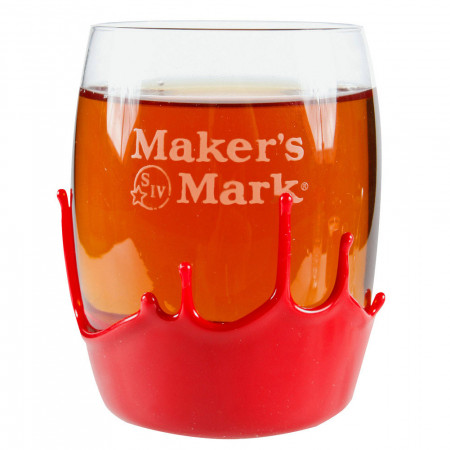 Maker's Mark Whiskey Rounded 9 oz. Rocks Glass With Wax Seal