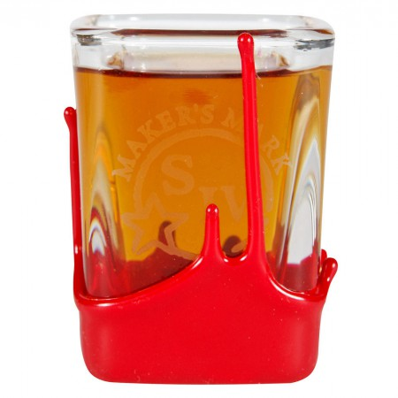 Maker's Mark Red Wax Square Shot Glass