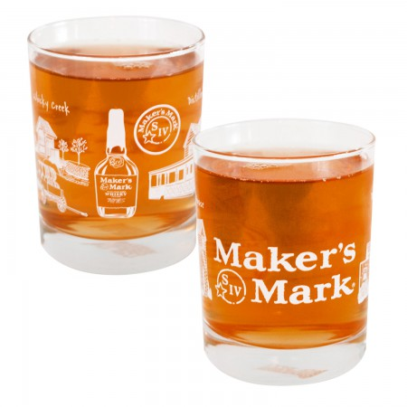 Maker's Mark S IV Wrapped Rocks Glass