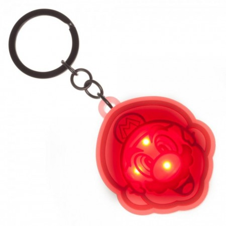 Super Mario Flashing Logo Keychain