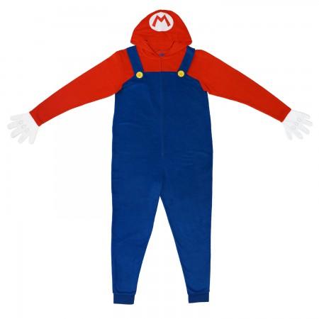 Nintendo Mario Pajama Union Suit Men's Costume