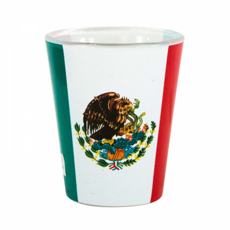 Mexican Flag Novelty Shot Glass